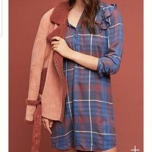 Cloth & Stone Ruffled Shirtdress (Anthropologie)